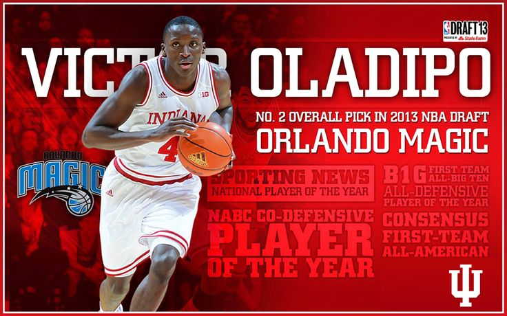 Congratulations to Victor Oladipo! Victor Oladipo was drafted by the Orlando Magic as the second overall pick in the 2013 NBA Draft. This is the first time in school history that IU has had 2 players picked among the top 5 in the NBA Draft. Go Hoosiers!