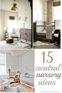 15 Neutral Nursery Ideas - I like the neutral background with grey and white and using my nerdy stuff to add color.