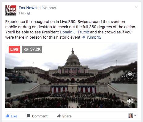FOX News Live 360 of the US inauguration