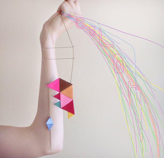 Colour coding necklace.