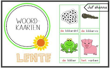 jufshanna nl thema lente woordkaarten thema