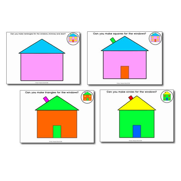 Shapes playdough mats different shapes with a house for Different shapes of houses
