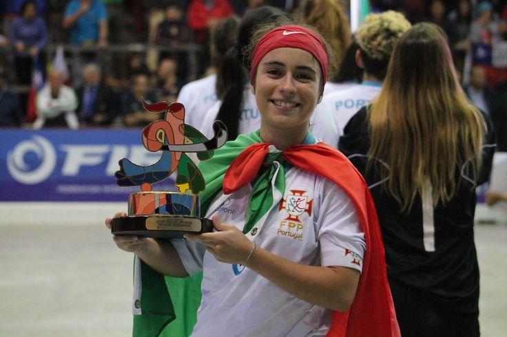 Marlene Sousa foi considerada a melhor jogadora do Mundial, de Hóquei em Patins Feminino.