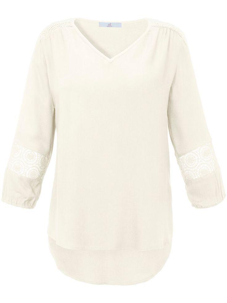 Bluse mit 3/4-Arm und V-Ausschnitt