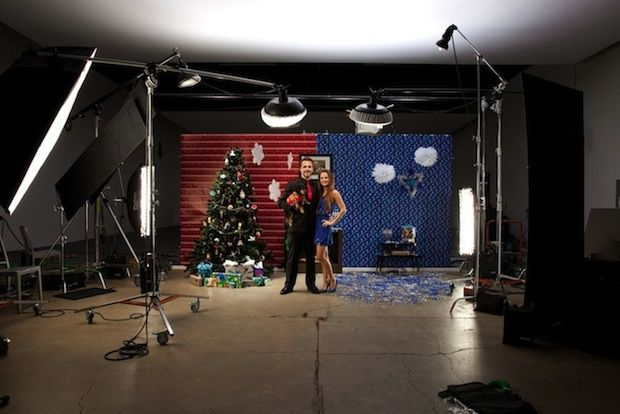 Creative Photographer Couple Shoots Half-Christmas Half-Hanukkah Holiday Card