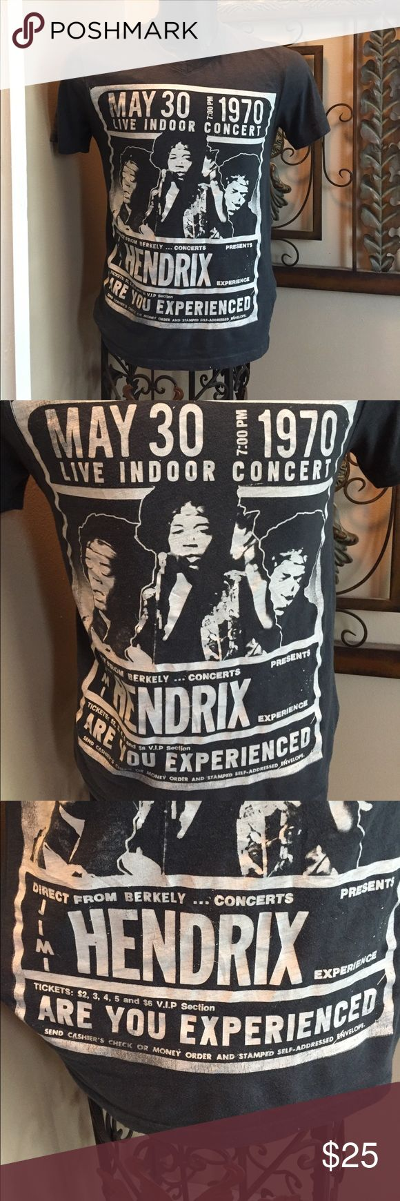 Jimi Hendrix live concert tee Legendary Jimi Hendrix  concert tee grey with white writing Shirts