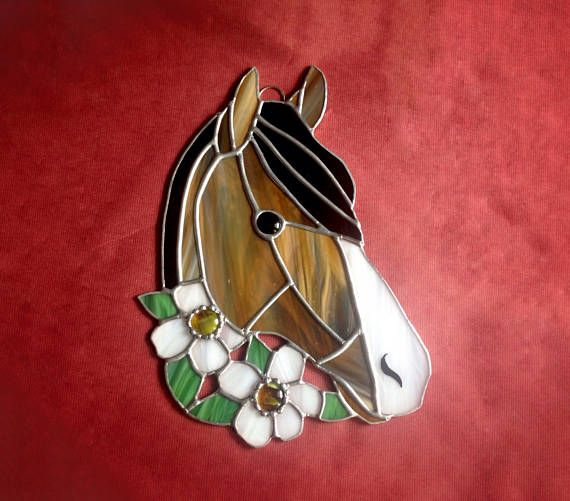 Country home decor horse gift green white yellow western