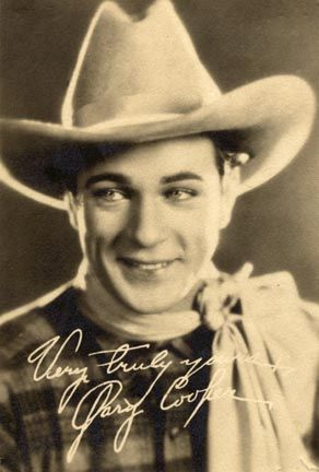 gary cooper - silent and sound movies notably Westerns (1927 Wings) 1901-61