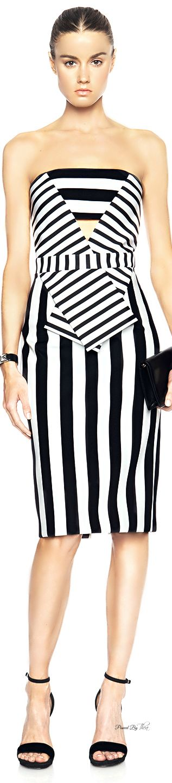 Cushnie et Ochs ● Striped Neoprene Dress ~ Tнεα