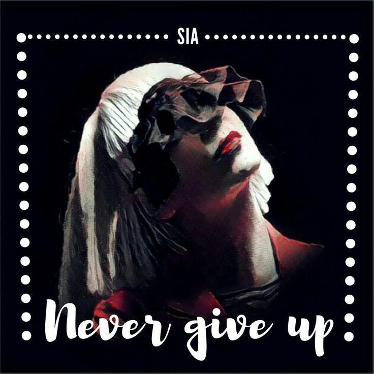 Sia's album cover for OMG never give up.. By @imnmo