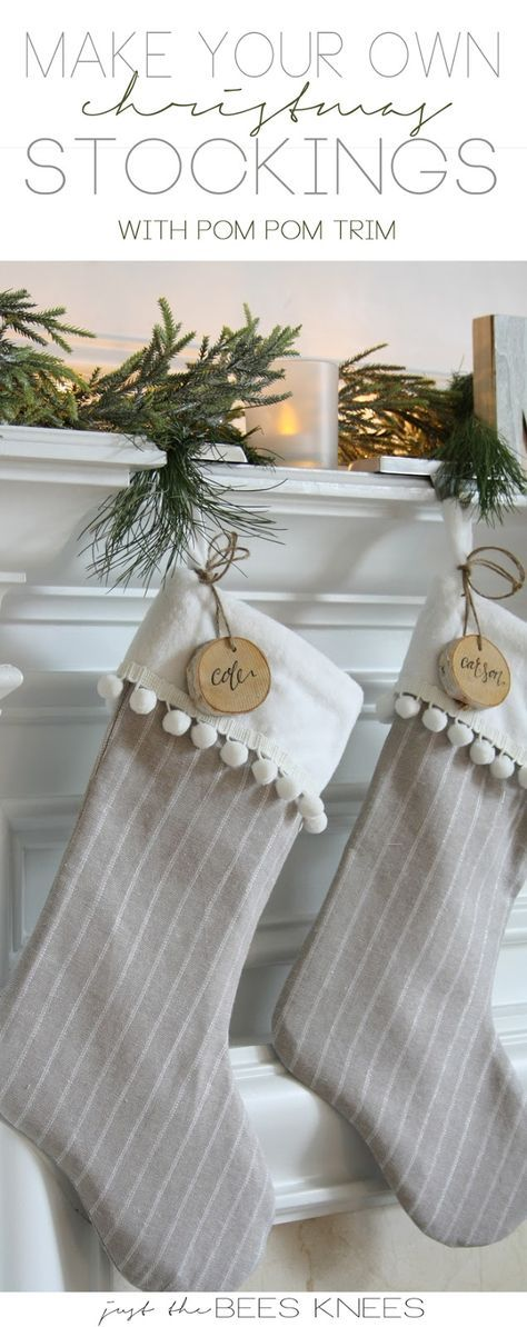 10 Minute Christmas Stocking Tutorial Created by: Crazy Little Projects – – – DIY Smocked Burlap Stockings Created by: Thistlewood Farms – – – Crochet Stocking with Free Pattern Created by: Persia Lou – – – Easy Sew Personalized Christmas Stockings Create