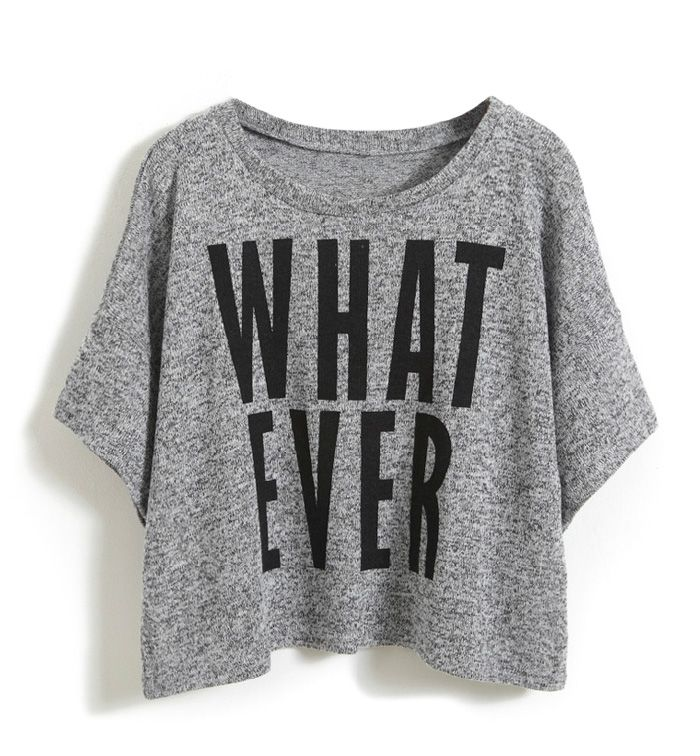 Wording Print Short Sleeved Jumper. I wish I had the attitude to pull this off!