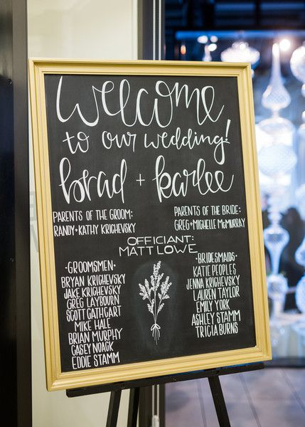 Chalkboard sign for wedding - wedding ceremony sign with elegant font {Powers Photography Studios}