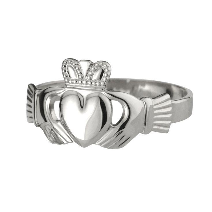 Gents Puffed Claddagh Ring