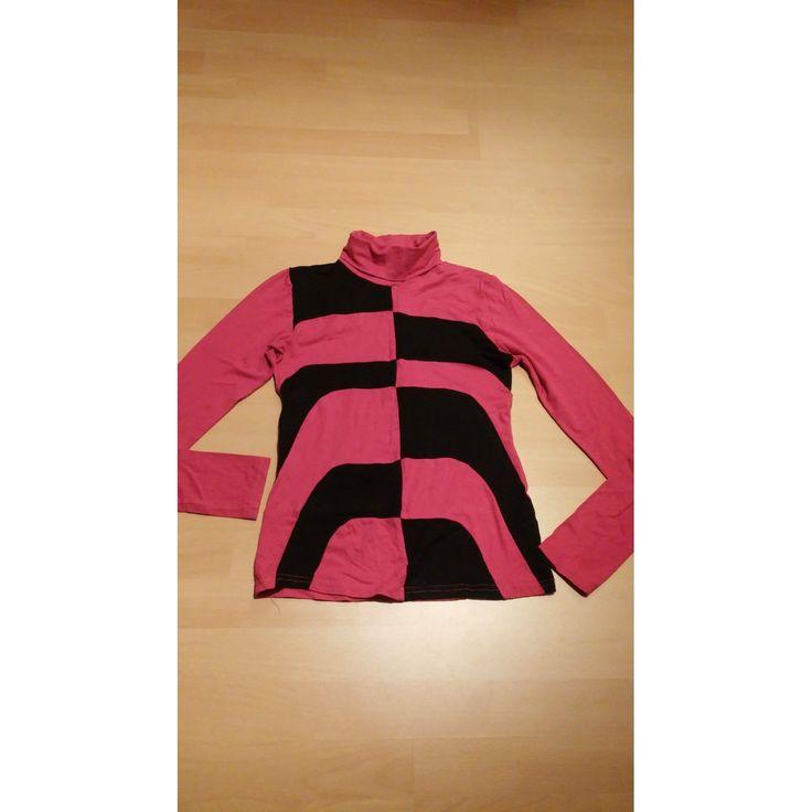 Damen Pullover Ausgefallenes leichtes Shirt Gr.34 in Rot-Schwarz von AMISU