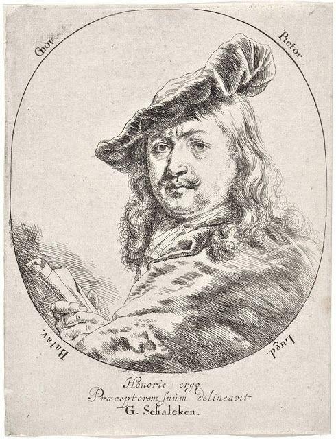 Πορτρέτο του Ντάου με μπερέ. Χαρακτικό από τον Godfried Schalcken (1665-70).