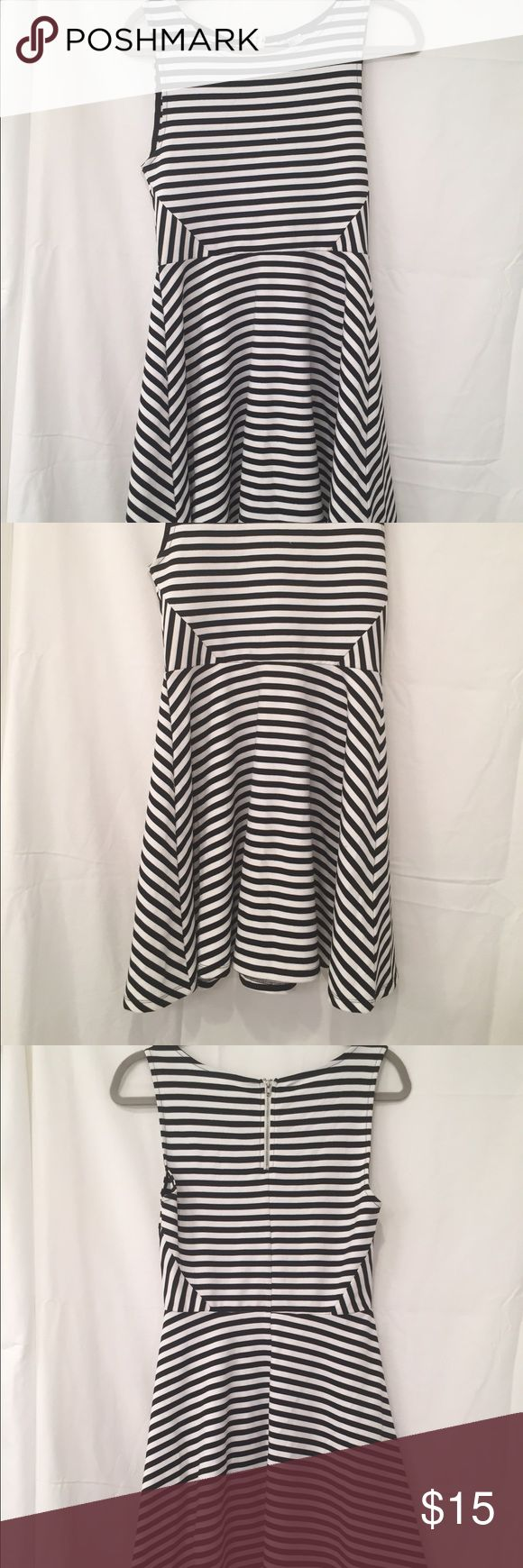 Striped Tank Dress Tank dress very flattering because of varying stripes on the side Dresses Mini