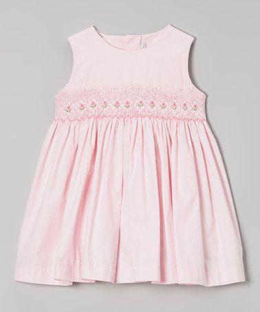 Look at this #zulilyfind! Pink Floral Smocked Dress - Infant, Toddler & Girls by Fantaisie Kids #zulilyfinds