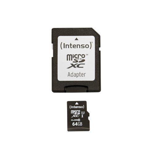 Intenso Micro SDXC 64GB Class 10 Speicherkarte inkl. SD-Adapter (UHS-I) - http://kameras-kaufen.de/intenso/intenso-micro-sdxc-64gb-class-10-speicherkarte-sd-2
