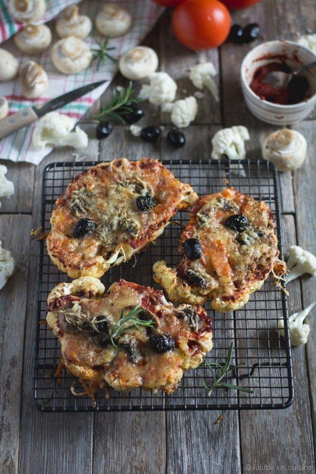 Tartines chaudes de chou-fleur (comme une pizza) | Jujube en cuisine