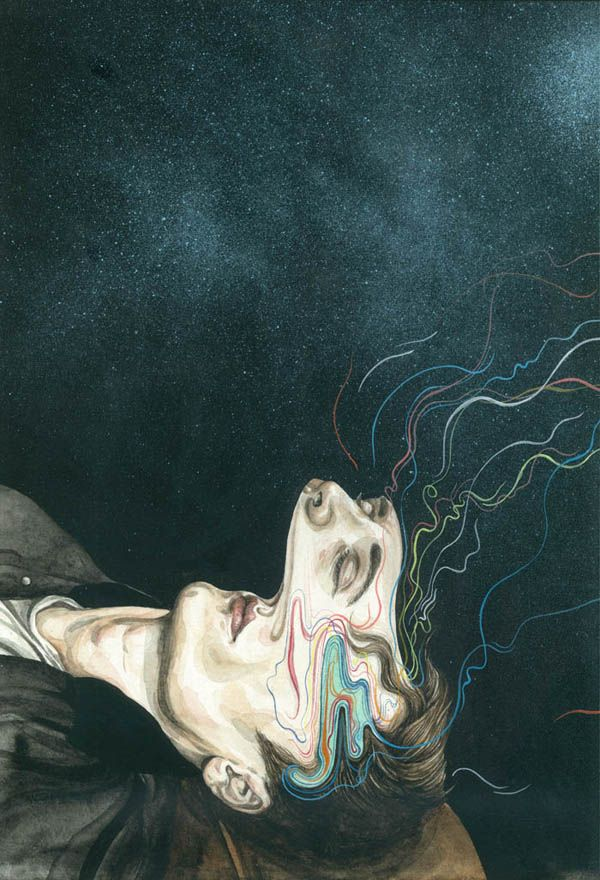 New Zealand illustrator Henrietta Harris is a skilled watercolor artist. This series of portraits expresses everyday sensory interference by way of de...