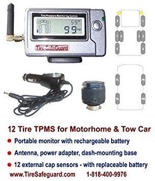 12 Tire RV Cap Sensor Tire Pressure Monitoring System (TPMS) Review 2017