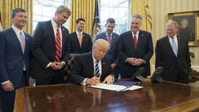Trump signs repeal of transparency rule for oil companies:  February 14, 2017