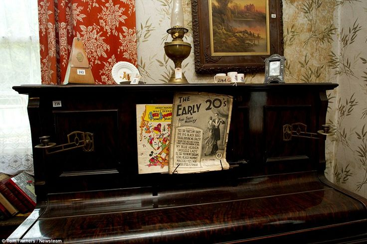 Musical: The house's piano boasts sheet music which dates back 90 years, as well as an ear...