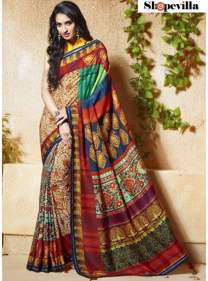 Delightsome Banglori Silk Lace Multi Colour Trendy Saree-603