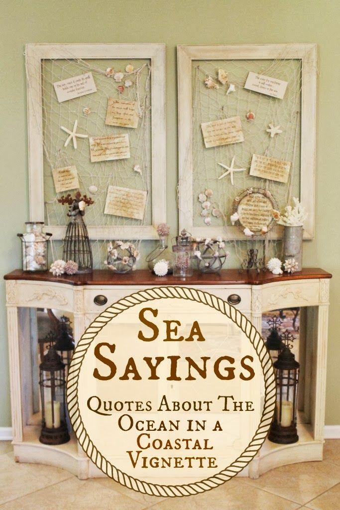 Sea Sayings   Easy #DIY #Coastal Decor Via Miss Kopy Kat