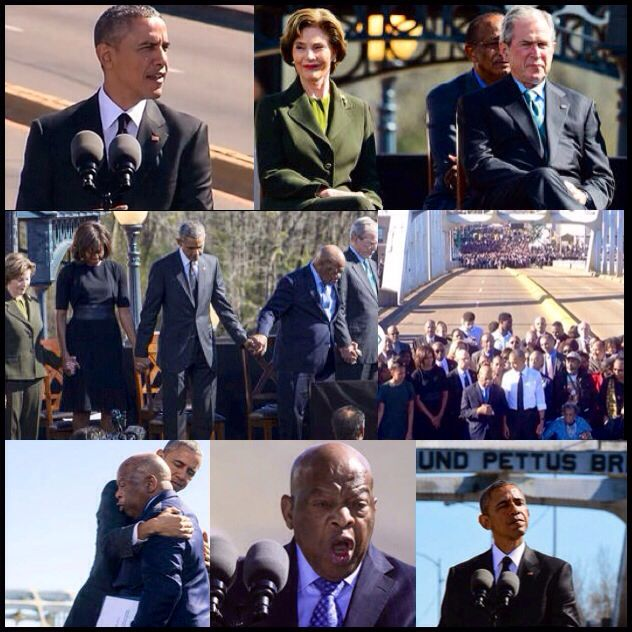 """Selma is about the courage of ordinary people doing extraordinary things because they believe they can change the country, that they can shape our nation's destiny. Selma is about each of us asking ourselves what we can do to make America better."" - Excerpt From President Obama's Speech Today at the Edmund  Pettus Bridge #BloodySunday #Selma50"