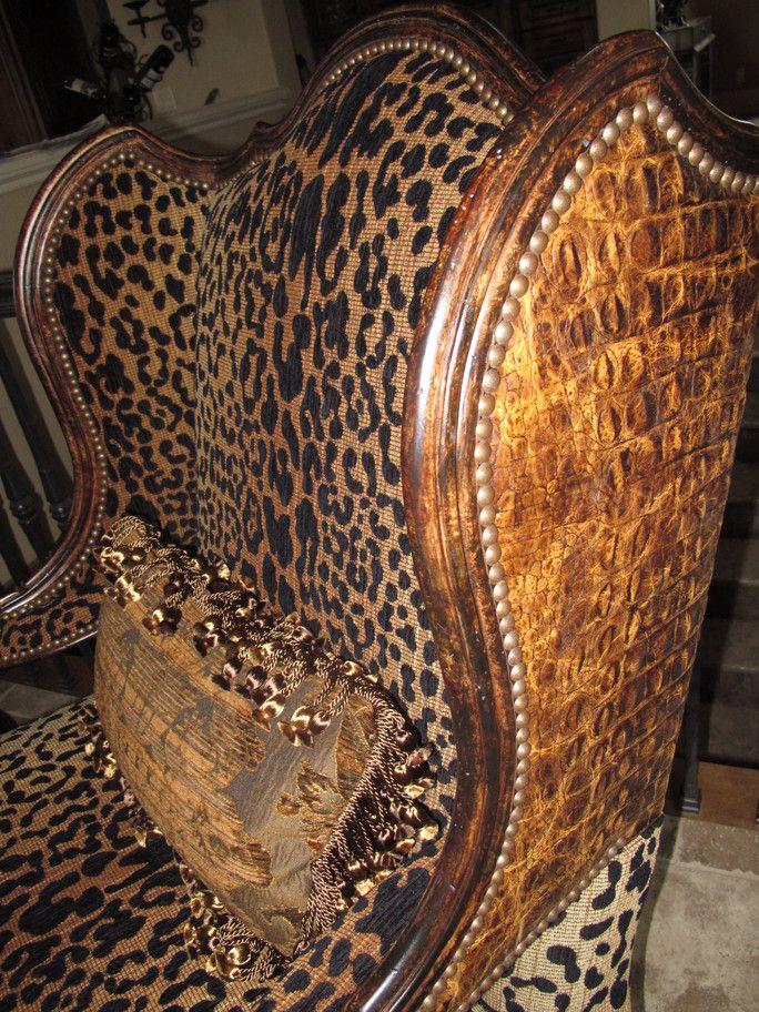 Projects Plenty: Leopard Print Chair