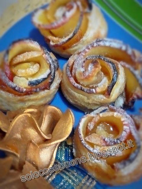 Ricette SoloCoseBuone  : Rose di pasta sfoglia e mele