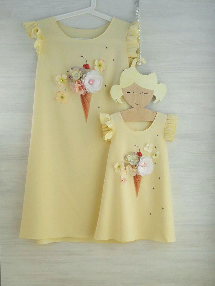 Купить Платья Фемилилук с принтом. Одинаковые платья мама и дочка фемилилук - фемилилук, одинаковая одежда
