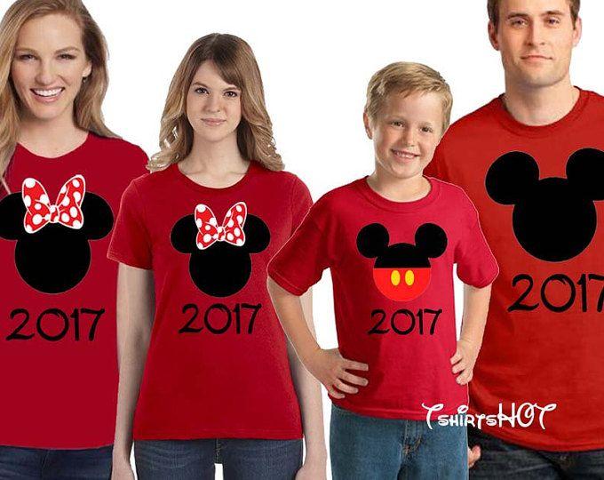 Camisetas familia Disney, Disney, Disney 2017 juego camisas, Mickey y Minnie Head camisas, juego Disney camisetas, camisas de viaje Disney