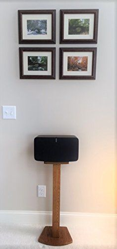"Beautiful SONOS PLAY 5 (2nd Generation) Wood (oak & other) Speaker Stand. Unlike speakers designed for the previous generation of PLAY 5 and many ""universal"" speakers, these speakers are custom designed for SONOS PLAY 5 (2nd Generation) and built for function and aesthetics. Top... more details available at https://furniture.bestselleroutlets.com/game-recreation-room-furniture/tv-media-furniture/speaker-stands/product-review-for-beautiful-wood-speaker-stand-hand"