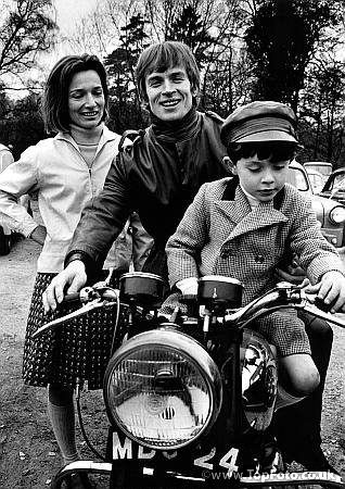 Nureyev with Princess Lee Radziwill (Jackie Kennedy's sister) and her son at Rickmansworth, England in 1965.