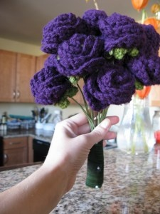 Bouquet idea: add some broaches in the center, thicken the stems, wrap in ribbon, and pin with diamond pins.