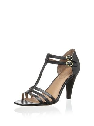 40% OFF Corso Como Women's Aster T-Strap Sandal (Black Silk Calf)