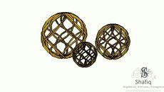 3D Model of Esferas de ferro (Douradas)