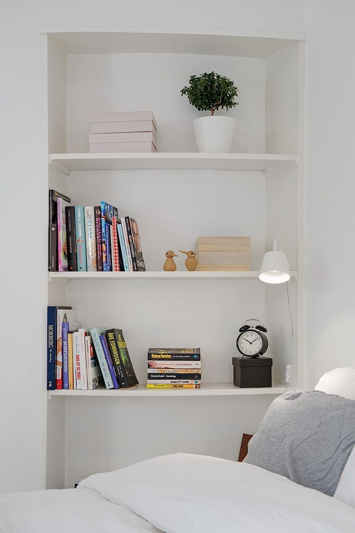 In-built shelf for DVD's - could go across the whole wall of home theatre