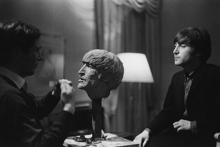 photos by Marc Riboud: John Lennon, 1964