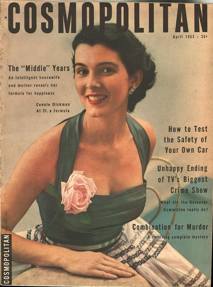 Cosmopolitan magazine, APRIL 1953 Connie Dickman on cover