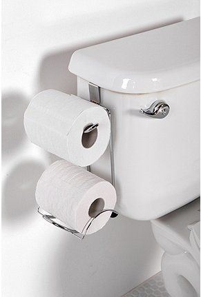 Hanging Toliet Paper Holder - nifty idea!