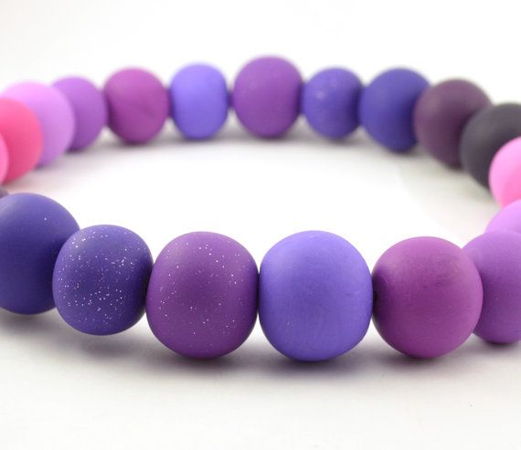 Pink Purple Gradient Necklace Handmade by DysfunctionDesigns, £9.00