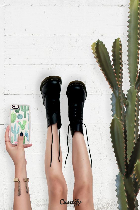 Watercolor Cacti - Click through to see more iPhone 6 protective phone case in clear and clear by @frostdesignco >>> https://www.casetify.com/frostdesignco/collection   @casetify