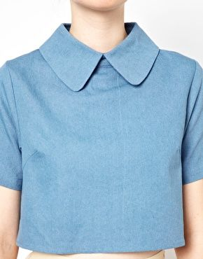 White Pepper Cropped Shirt ASOS