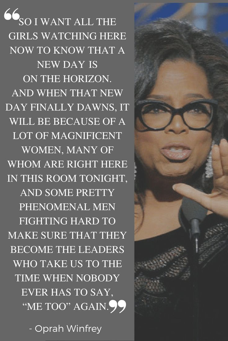 10 Empowering Quotes by Inspiring Kick-Ass Women! Oprah Winfrey's EPIC 2018 Golden Globes speech. www.awelltravelledbeauty.com