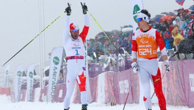 #Sochi - Brian McKeever, second Gold Medal, 1 km Men's Cross Country Sprint visually impaired