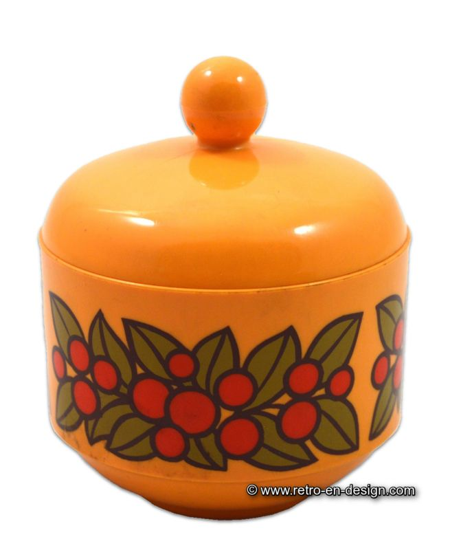 Vintage plastic EMSA sugar bowl